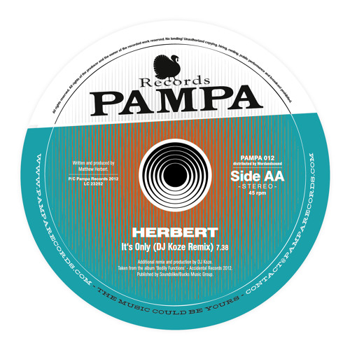 PAMPA012 - Dntel / Herbert - My Orphaned Son / It's Only