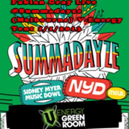 Fabian Gray Live at Summadayze V-Energy Tent 1 1 2013