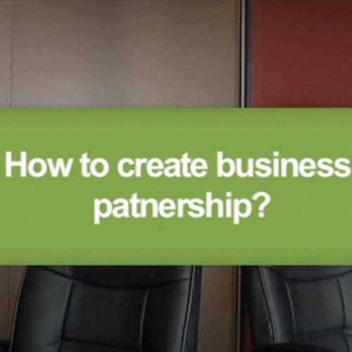 How to create business partnership