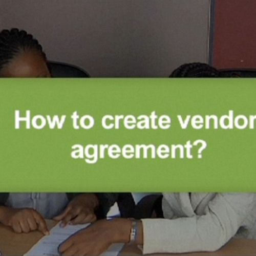 How to create vendor agreement