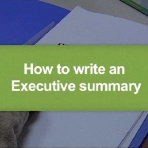 How to write executive summary
