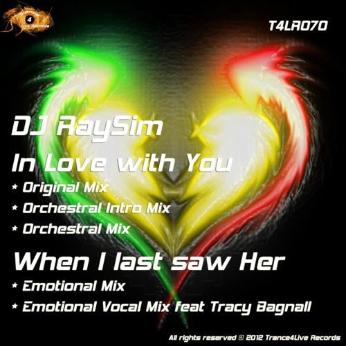 When I Last Saw Her - DJ RaySim feat.Tracy Bagnall