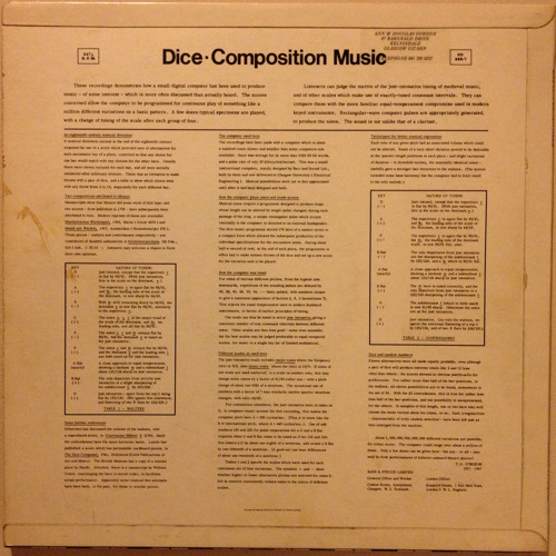 Dice-Composition Music (side two)