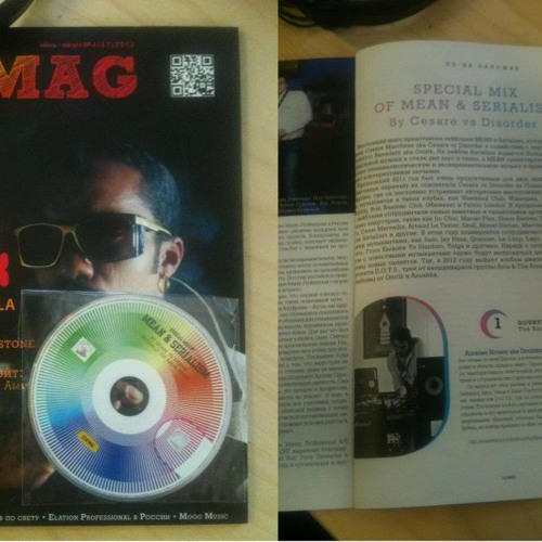 Cesare vs Disorder_DjMag Russia mixed CD (August 2012 issue 067 download free)