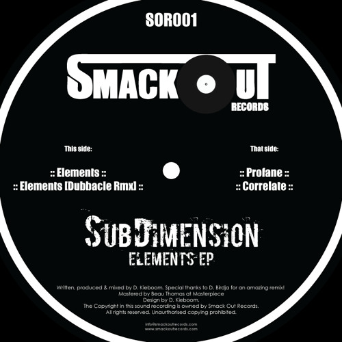 "A1 - SubDimension - Elements (clip) - Forthcoming 12"" Elements EP"