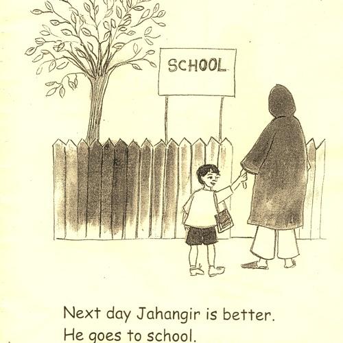 13 goes to school