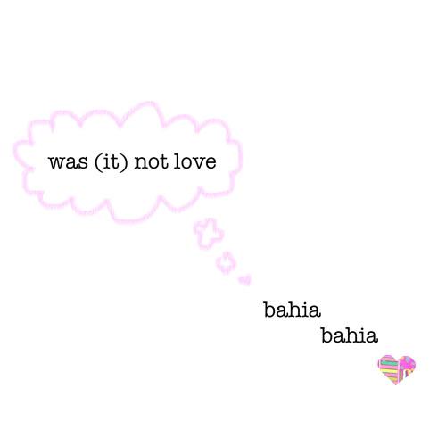 was (it) not love