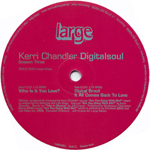 LARGE CLASSIC: Kerri Chandler- Digital Brazil