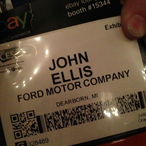 Geeking out about cars contextually with @Ford's software guy. #fordCES at Venetian Resort & Casino