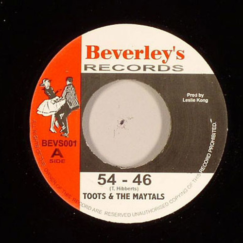 Toots (& the maytals) - 56 360, a promising number  - dubplate promising crew