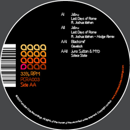 Paradise Club Recordings (Analogue & Digital) 003 - OUT NOW