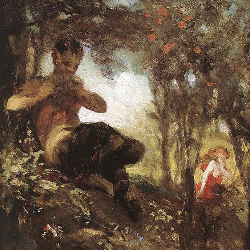 Visit from a faun