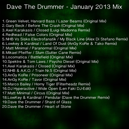 Dave The Drummer Jan 2013 Mix / Fnoob Doppler Shift radio show