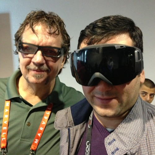 The future of wearable computers with founders of @recon and @pairasight at CES2013