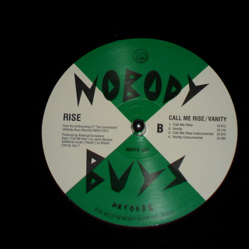 "Rise - Call Me Rise (available on 12"" on Nobody-Buys-Records NBR 12-002)"