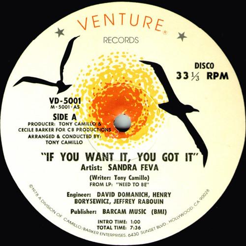 Sandra Feva (Sapphire) - If You Want It, You Got It (Florent F Dub Mix)