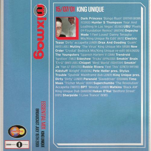 Essential Mix 15/07/2001 - King Unique