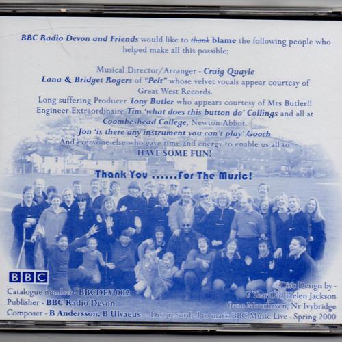 Thank you for the music - BBC Radio Devon charity single 2000