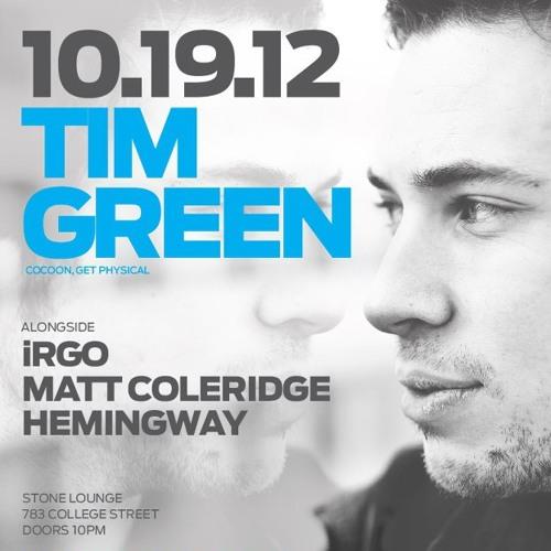 Tim Green LIVE @ FABRICATED, TORONTO - 19/10/2012