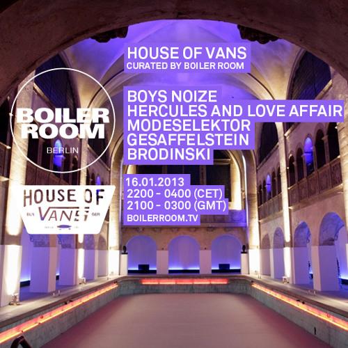 Modeselektor 60 Min Mix - House of Vans x Boiler Room