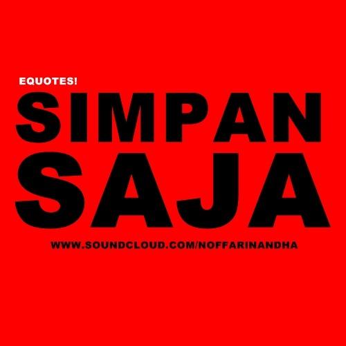 Simpan Saja (Cover)
