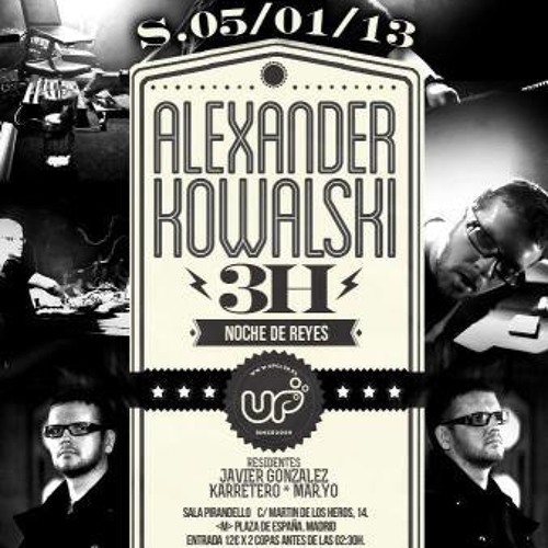 Alexander Kowalski DJ-Set at Up Madrid 05.01.2013