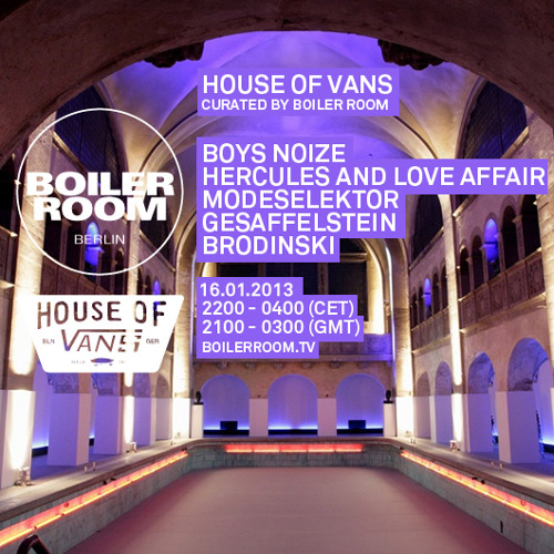 Boys Noize DJ set at House of Vans x Boiler Room Berlin