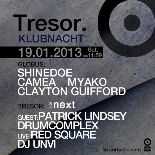 Drumcomplex @ Tresor / Berlin 19.01.2013 Part 2