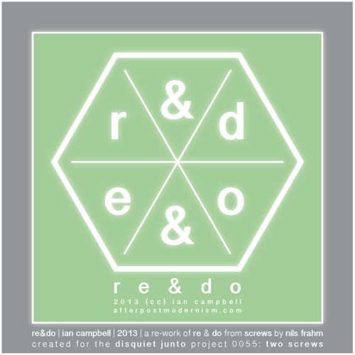 "No.70: re&do [Remix of Nils Fram - ""Re"" & ""Do"" for disquiet0055-twoscrews]"