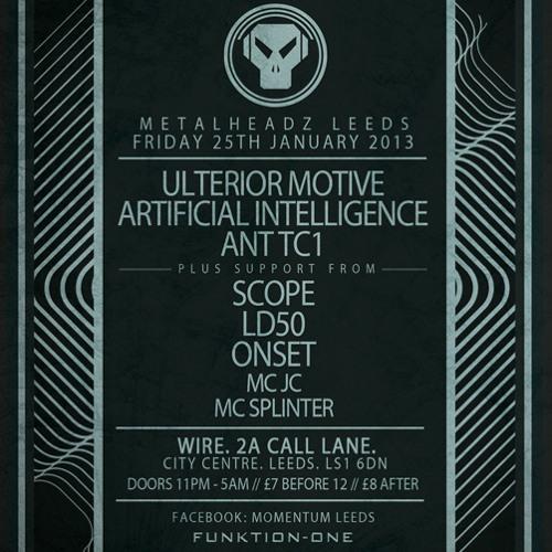 Artificial Intelligence - Metalheadz @ Momentum promo mix 23.1.13 - DL @ 320kbps