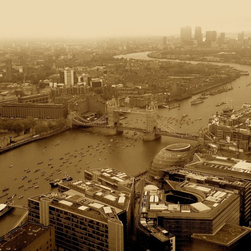 The Queens Jubilee River Pageant from the Shard