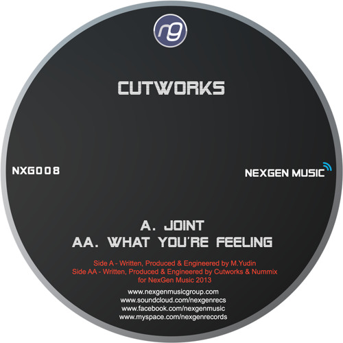 """NXG008 - Cutworks & Nummix - What You're Feeling (12"""" VINYL OUT NOW!)"""