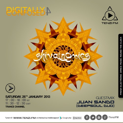 ShivaTronics - Digitally Confused Edition.4 (with Guestmix-Juan Sando) @TenziFM