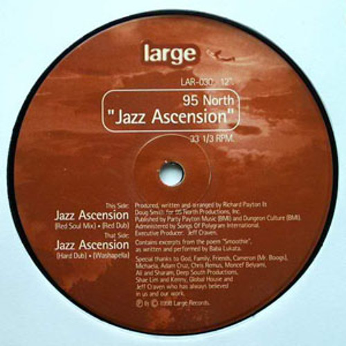 LARGE CLASSIC:  95 North- Jazz Ascension (Hard Dub)