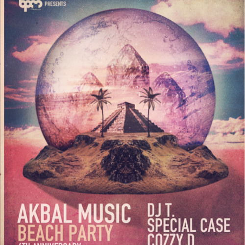 Akbal Music podcast 01- DJ T. live @ Akbal Music beach party_BPM Festival 2013