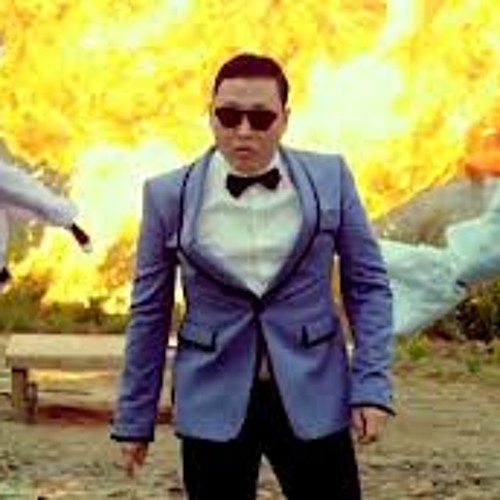 gangnam style with the music as a backing track