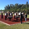 Winter percussion warm up at West Broward High School