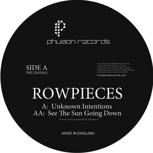 Rowpieces - Unknown Intentions (Phuzion Records)