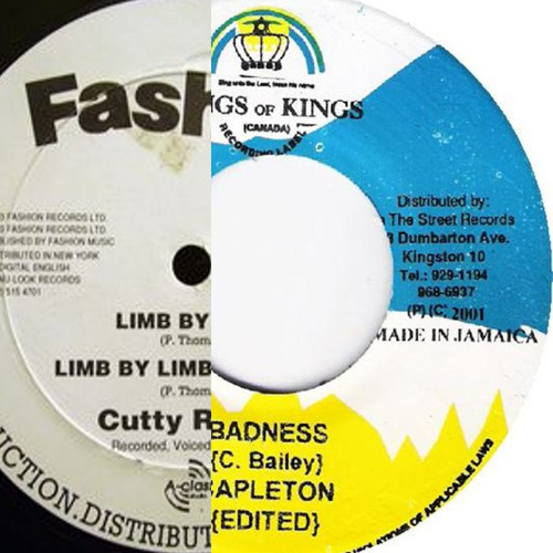 Capleton vs Cutty Ranks - Badness vs Limb by Limb (dancehall remix mashup)