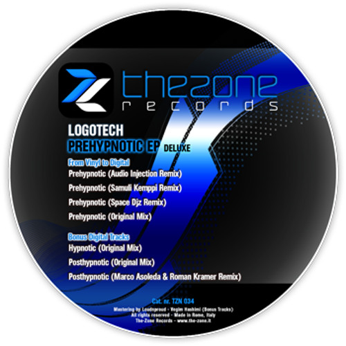 TZN034 - LOGOTECH - PREHYPNOTIC DELUXE EP (From Vinyl To Digital with bonus tracks)