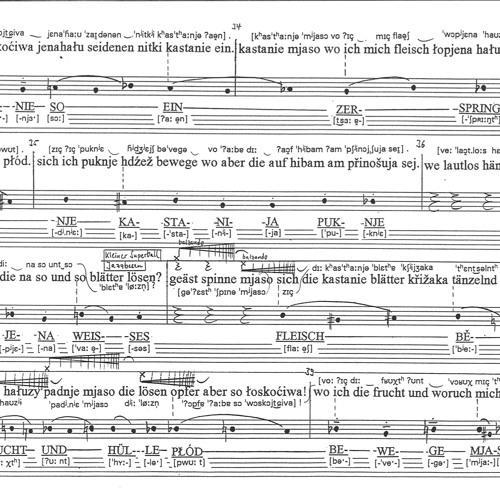 parkfiguren. Lyrisches Moment mit einem deutsch-sorbischen Text von Róža Domašcyna (live recording)