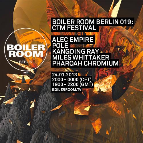 Pharoah Chromium LIVE in the Boiler Room