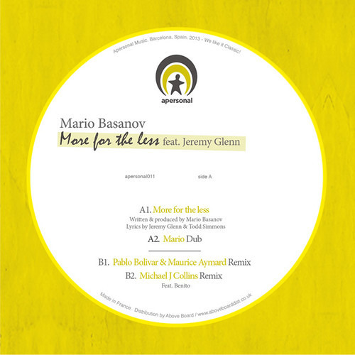 Mario Basanov feat. Jeremy Glenn - More for The Less 12''
