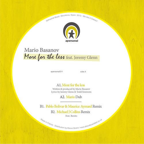 Mario Basanov feat. Jeremy Glenn - More for The Less (Mario Dub) 12''