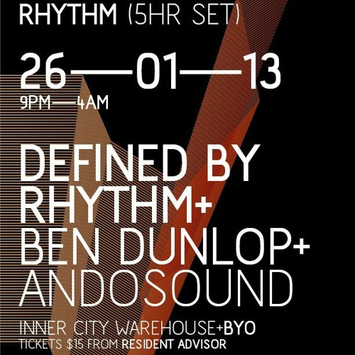 Stramm Presents: A night with Defined By Rhythm Part one