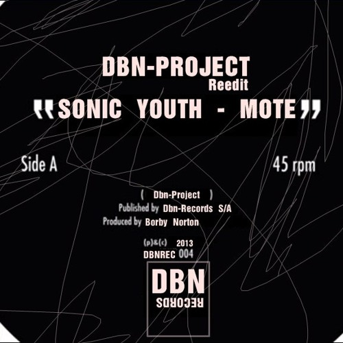 MOTE SONIC YOUTH - DBN-PROJECT REEDIT