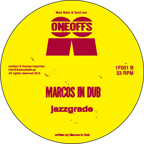 Marcos In Dub - Jazzgrade (1F001, Side B)