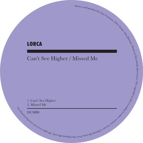 Lorca - Can't See Higher (Temple's House Edit)