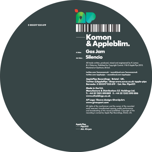 Komon & Appleblim - Gas Jam - PIPS021 - clip
