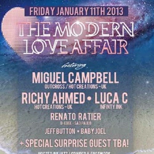 Richy Ahmed Live at Modern Love Affair at BPM festival 2013